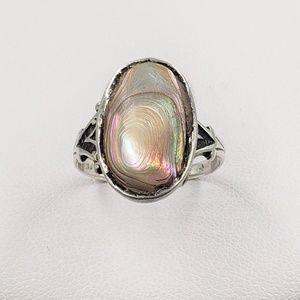 Jewelry - Vintage Blistered Shell Sterling Silver Ring